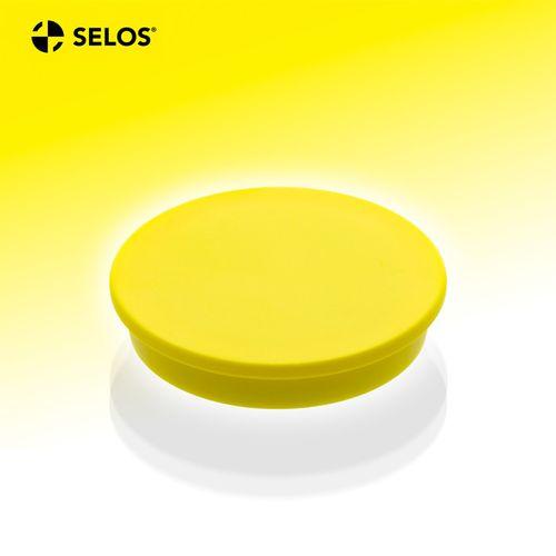 Kancelársky magnet, ferit, okrúhly, žltý