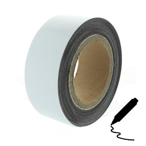 Magnetická páska 10 m, biela lesklá (flipchart povrch)