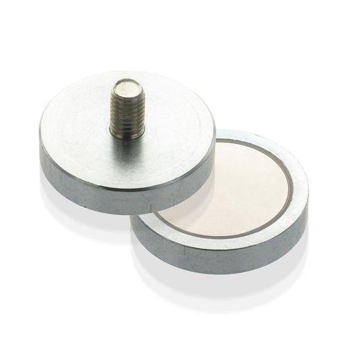 Magnetický prvok plochý s vonkajším závitom, NdFeB, economy