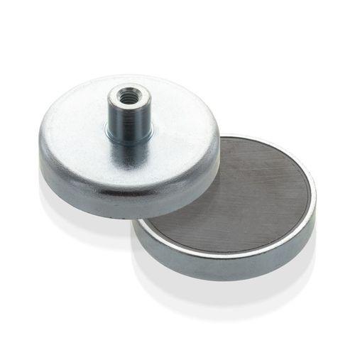 Magnetický prvok plochý so závitovým púzdrom, Fe, economy