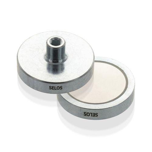 Magnetický prvok plochý so závitovým púzdrom, NdFeB
