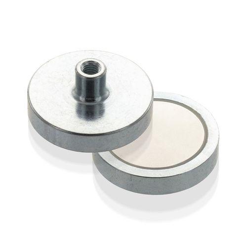 Magnetický prvok plochý so závitovým púzdrom, NdFeB, economy