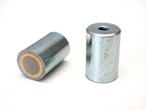 Magnetický prvok valcový s vnútorným závitom, AlNiCo