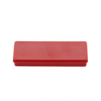Kancelársky magnet, ferit, hranatý, červený