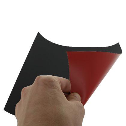 Magnetická fólia STANDARD, červená matná (PVC)