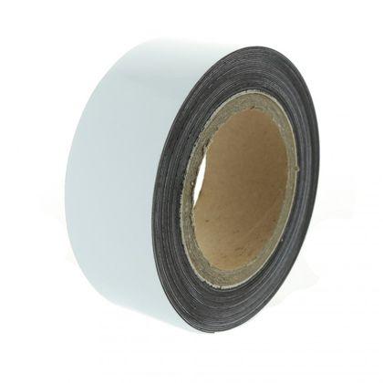 Magnetická páska 10 m, biela lesklá