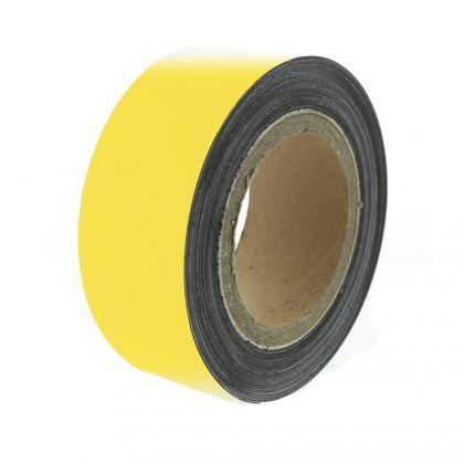 Magnetická páska 10 m, žltá matná