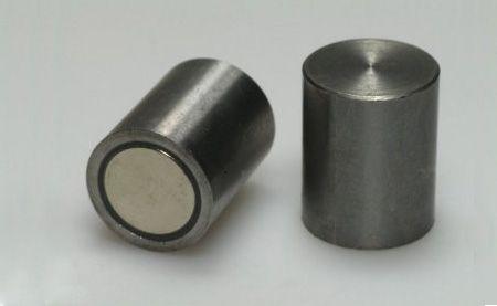 Magnetický prvok valcový s toleranciou h6 (oceľový), NdFeB