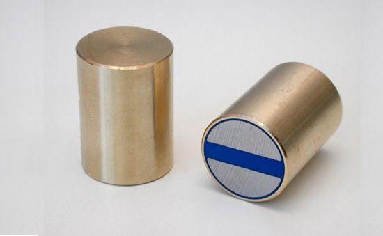 Magnetický prvok valcový s toleranciou h6 (mosadz), NdFeB