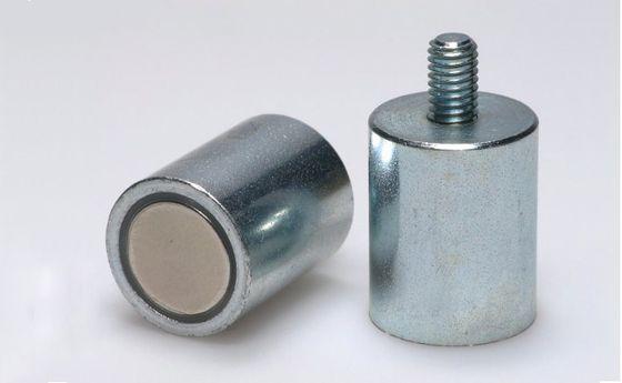 Magnetický prvok valcový s vonkajším závitom, NdFeB